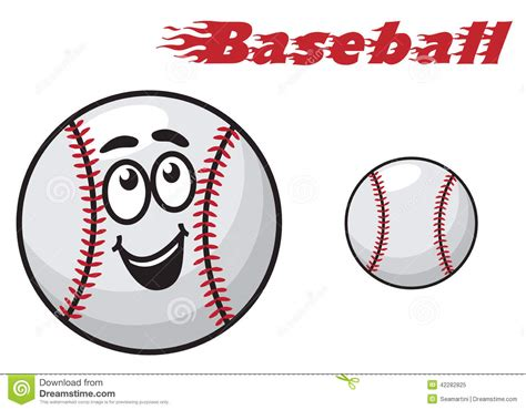Baseball Cartoon Ball Stock Vector