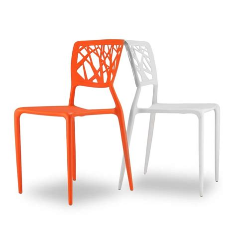 chaises orange chaises orange pour jardin candice x2 par drawer