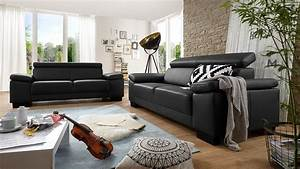 Couch Mit Klappbaren Armlehnen : sofa santiago zweisitzer in leder schwarz mit funktion 206 ~ Bigdaddyawards.com Haus und Dekorationen