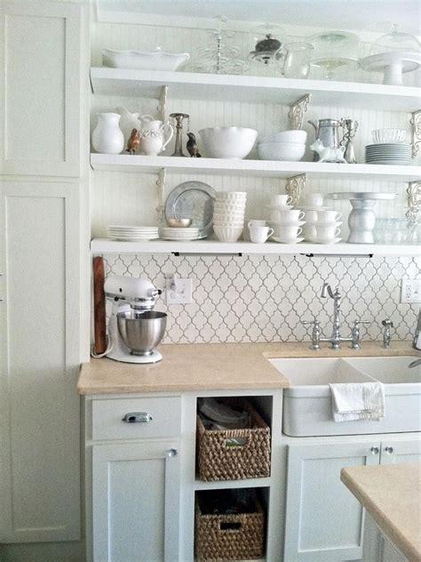 white wall shelves  effective storage  small kitchen
