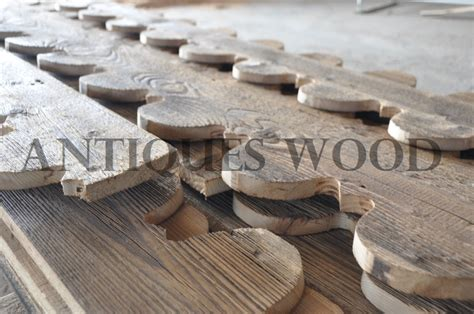 planches de rive en vieux bois