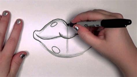 draw red cartoon lips cc youtube