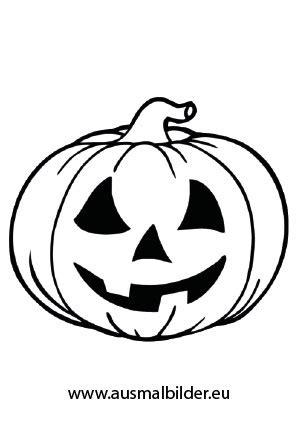 Ausmalbilder Kürbis  Halloween Malvorlagen
