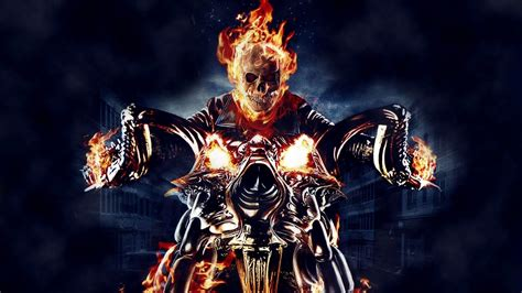 ghost rider skull fire motorcycle comics graphic