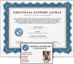 esa document kit service dog  emotional support