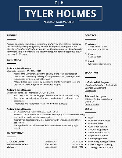 blue bell table formatted core functional resume