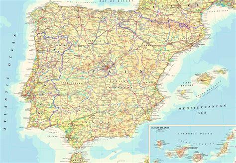 Carte Portugal Espagne by Portugal Spain Map Imsa Kolese