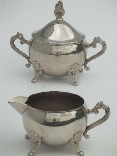 vintage international silver silverplated pitcher sugar bowl set