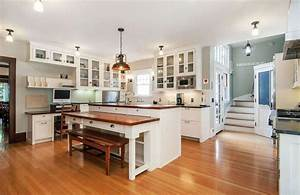 Beautiful Kitchen Islands with Bench Seating - Designing Idea