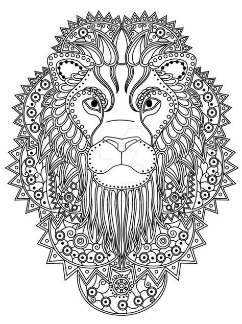 GST kolorowanka Afryka Lew by QuaMiya   Lion coloring