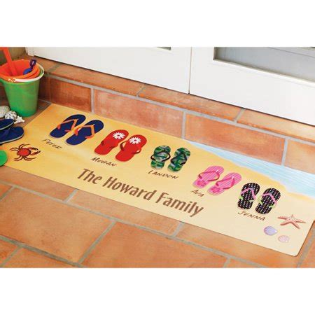 Soggy Doormat Coupon by Personalized Flip Flops Doormat 17 Quot X 27 Quot Walmart