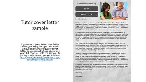tutor cover letter sample powerpoint