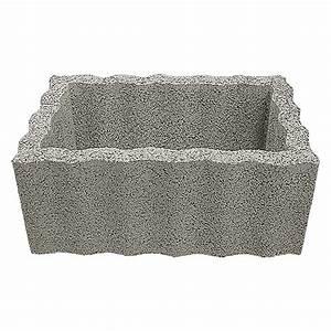 Beistelltisch 40 X 40 : pflanzstein rasterstein grau 60 x 40 x 25 cm beton bauhaus ~ Bigdaddyawards.com Haus und Dekorationen