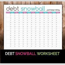 Debt Snowball Worksheet  Budget Printable  Debt Snowball, Snowball And Worksheets