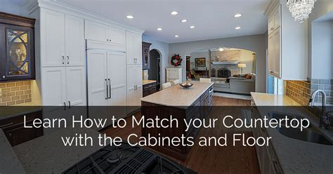 learn how to match your countertop with the cabinets and
