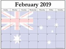 15+ February 2019 printable photo calendars with image