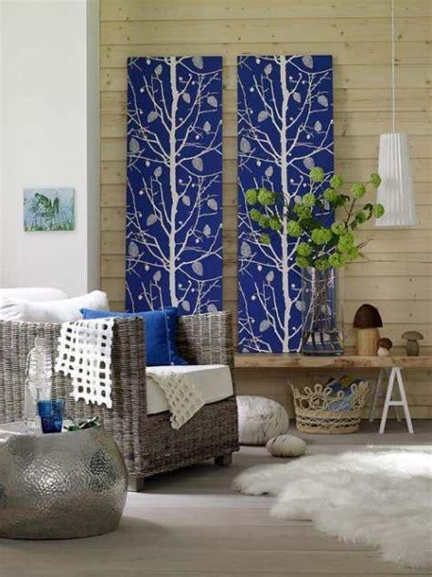 idea de decoracion  paredes  paneles de tela
