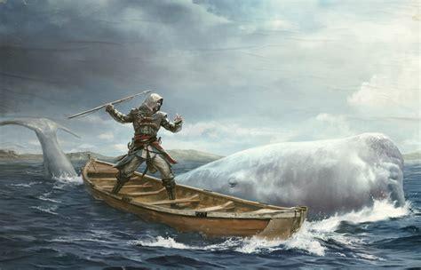 Assassins Creed 4 Black Flag Boats Warrior Fantasy Whale G