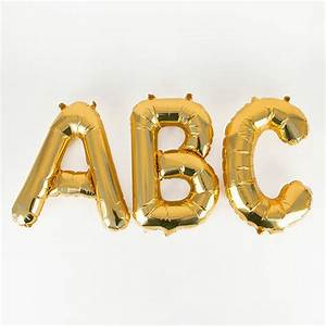 decoration small gold letter foil balloon children39s With small gold letter balloons