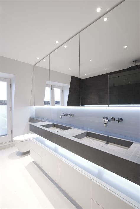 Deco Bathroom Lighting Ideas by Tigg Coll Architects Bespoke Concrete Basins Westbourne
