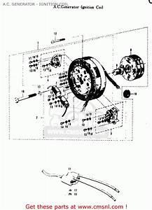 Suzuki T20 Tc250 Scrambler 1969 Usa  E03  A C  Generator