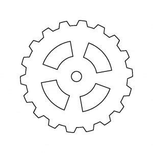 gear template pin by lindahl on robot theme ideas outlines search and