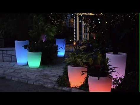solar illuminated planters youtube