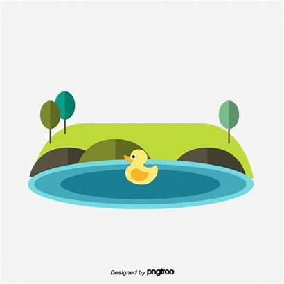 Pond Cartoon Clipart Psd Grassland Transparent Copyright