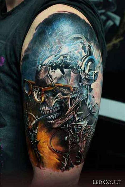 skulls beeindruckende totenschaedel part tattoo spirit