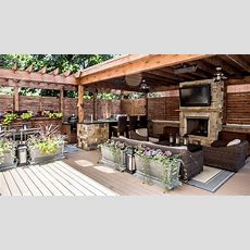Outdoor Entertainment Area Ideas  Outdoor Design  On The