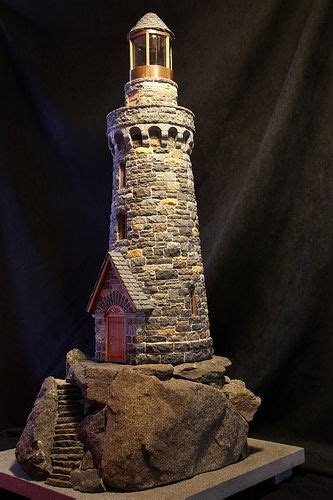 miniature stone lighthouses lighthouses lighthouse