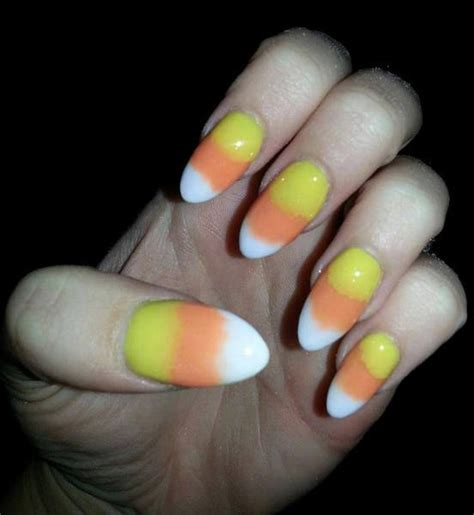 yellow orange  white ombre nails nails orange
