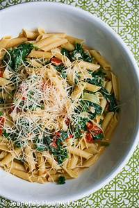 Pasta with Spinach Tomatoes and Parmesan Cheese | Recipe ...