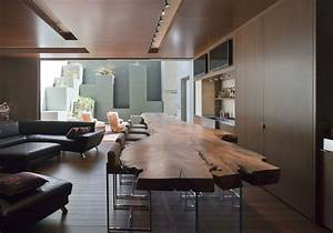 wooden bar living space massive modern home in las vegas With table a manger originale