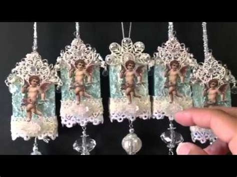 altered matchbox christmas ornament  ypp swap youtube
