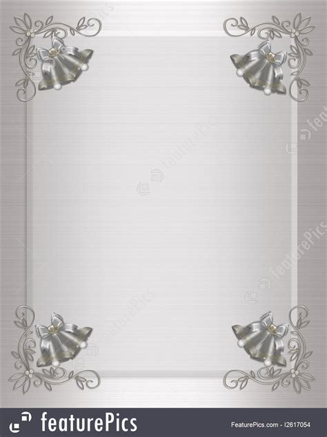 templates wedding invitation silver bells stock