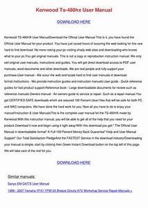 Kenwood Ts 480hx User Manual By Cassie Schlau
