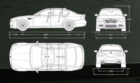 typical width of car f10 m5 car blog chassis