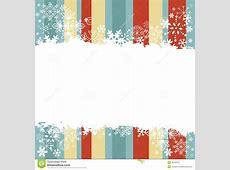 Winter Invitation Postcard With Snowflakes Stock Photo