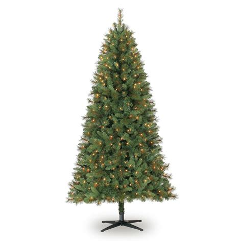 ashland pre lit windham spruce 7 ft pre lit green willow pine artificial tree clear lights by ashland