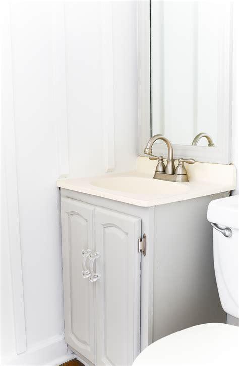Painted Bathroom Vanity How To Paint A Bathroom Vanity