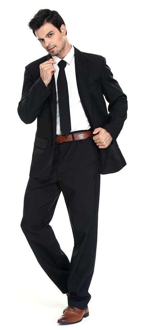 black suit christmas party suit solid black bachelor jacket you look today