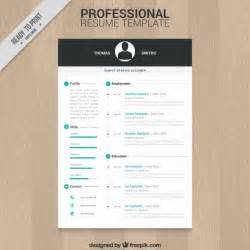 minimalist word resume format professional resume template vector free download