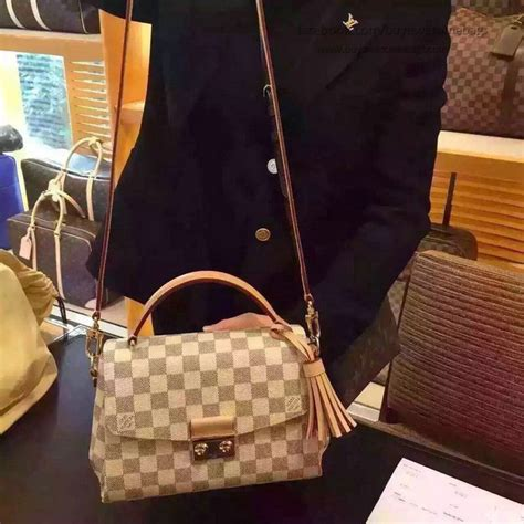 louis vuitton damier azur canvas croisette bag