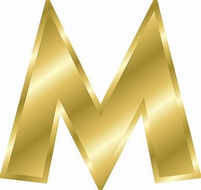 Gold Letters Alphabet Effect Clipart