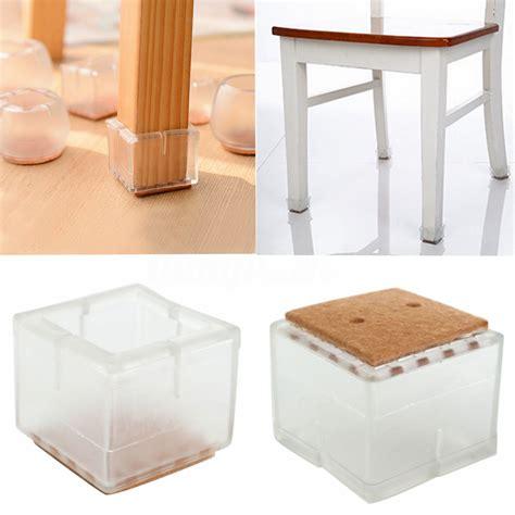 embout pied de chaise 4 8 12x protection pieds de chaise carré table meuble