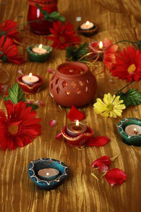diwali diyas  flowers diwali decorations diwali