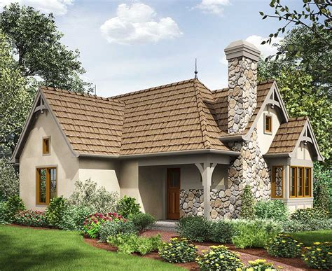 2 Bed Tiny Cottage House Plan