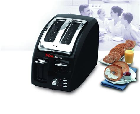 tfal avante toaster black t fal classic avante 2 slice toaster slanted bagel