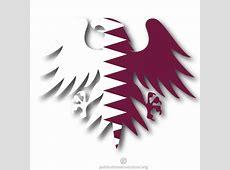Eagle silhouette Qatar flag Download at Vectorportal
